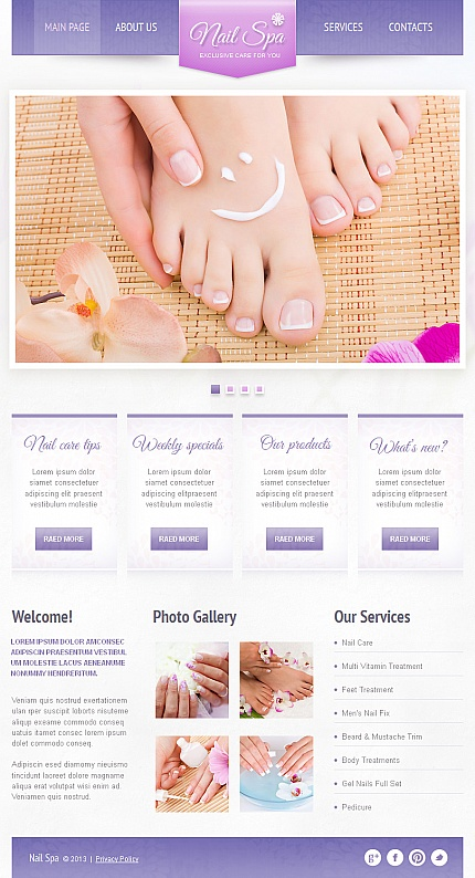 ADOBE Photoshop Template 42735 Home Page Screenshot