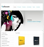 Software Facebook HTML CMS  Template 42738