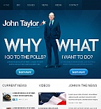 Politics Facebook HTML CMS  Template 42743