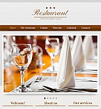Cafe & Restaurant Facebook HTML CMS  Template 42744
