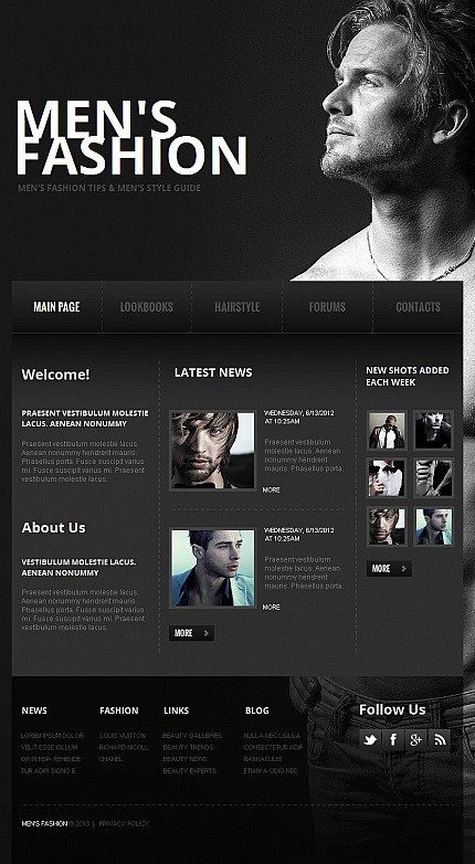 ADOBE Photoshop Template 42753 Home Page Screenshot