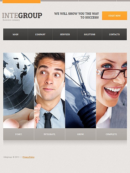 ADOBE Photoshop Template 42763 Home Page Screenshot