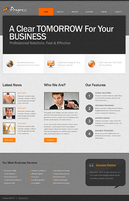 ADOBE Photoshop Template 42770 Home Page Screenshot