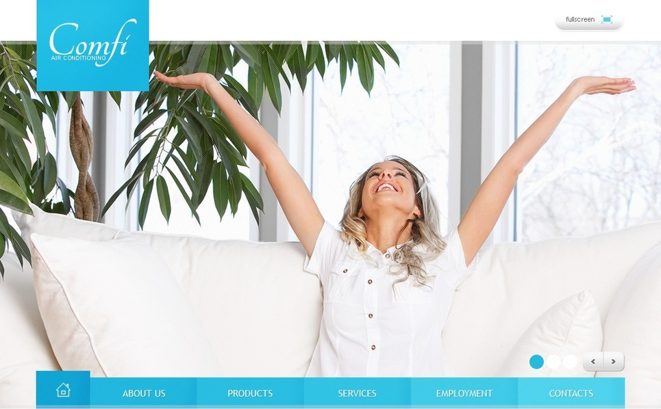 Premium Flash CMS Template over Airconditioning  New Screenshots BIG