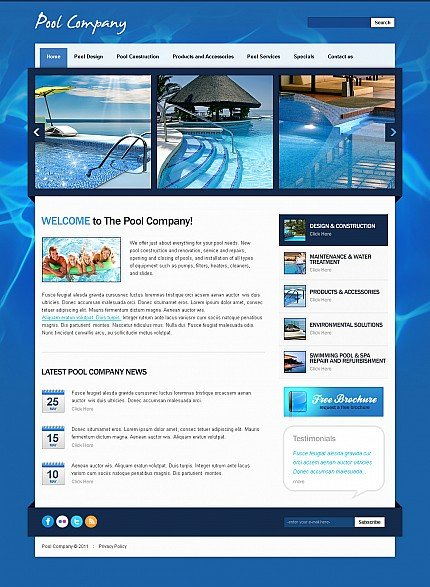 ADOBE Photoshop Template 42782 Home Page Screenshot