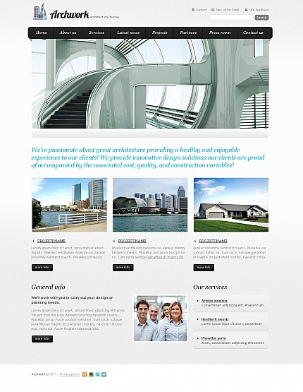 ADOBE Photoshop Template 42784 Home Page Screenshot