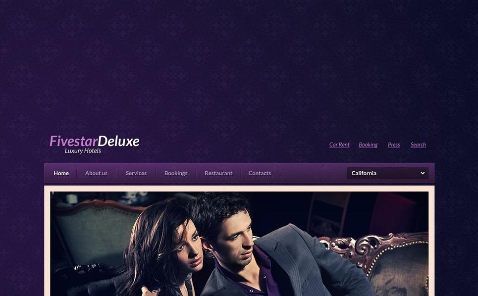 Premium Flash CMS Template over Hotels  New Screenshots BIG