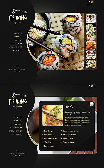 ADOBE Photoshop Template 42786 Home Page Screenshot