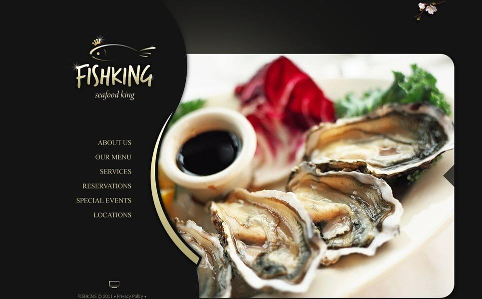 Szablon Flash CMS #42786 na temat: owoce morza restauracja New Screenshots BIG