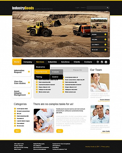 ADOBE Photoshop Template 42787 Home Page Screenshot