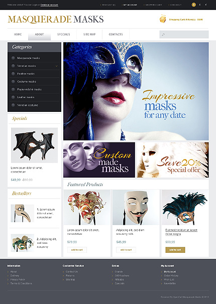 ADOBE Photoshop Template 42789 Home Page Screenshot
