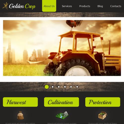 Golden Crop - Facebook HTML CMS Template