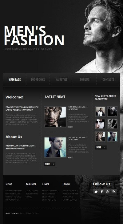 Apparel Facebook HTML CMS Template #42753