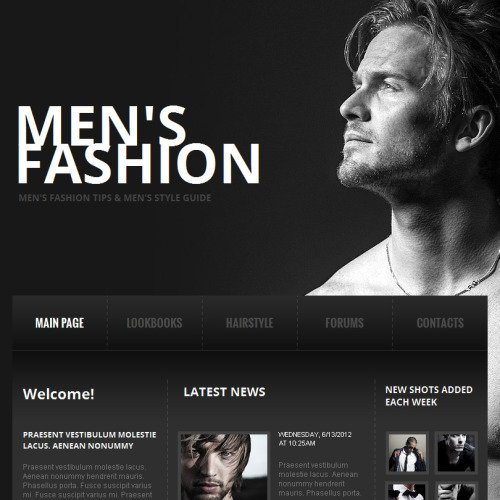 Men's Fashion - Facebook HTML CMS Template