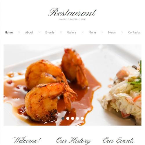 Restaurant - Facebook HTML CMS Template