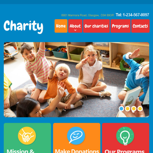 Charity - Facebook HTML CMS Template