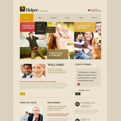 Child Charity Website Template #42791