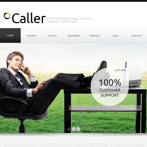 Caller - Facebook HTML CMS Template
