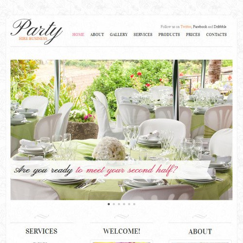 Party - Facebook HTML CMS Template