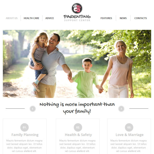 Parenting - Facebook HTML CMS Template