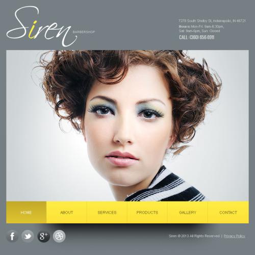 Siren  - Facebook HTML CMS Template
