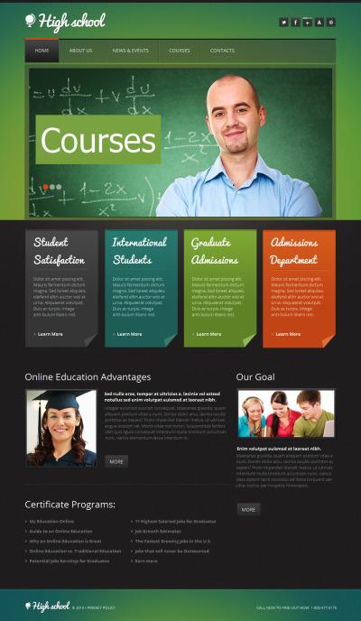 Education Moto CMS HTML šablona