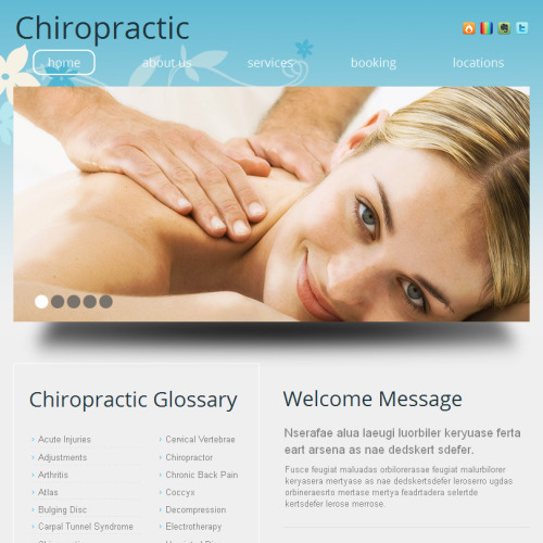 Chiropractic - Facebook HTML CMS Template