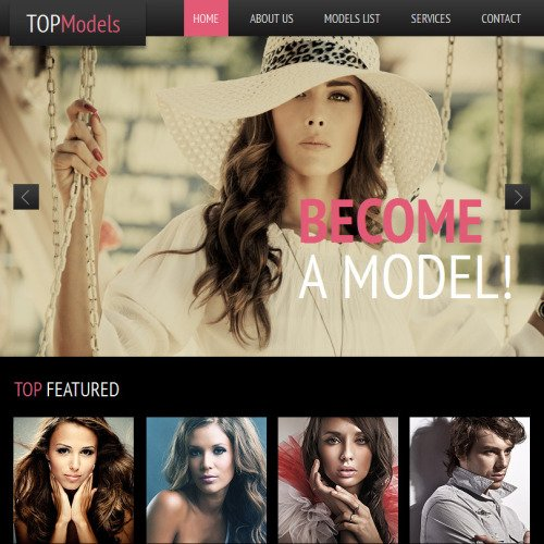 Topmodel - Facebook HTML CMS Template