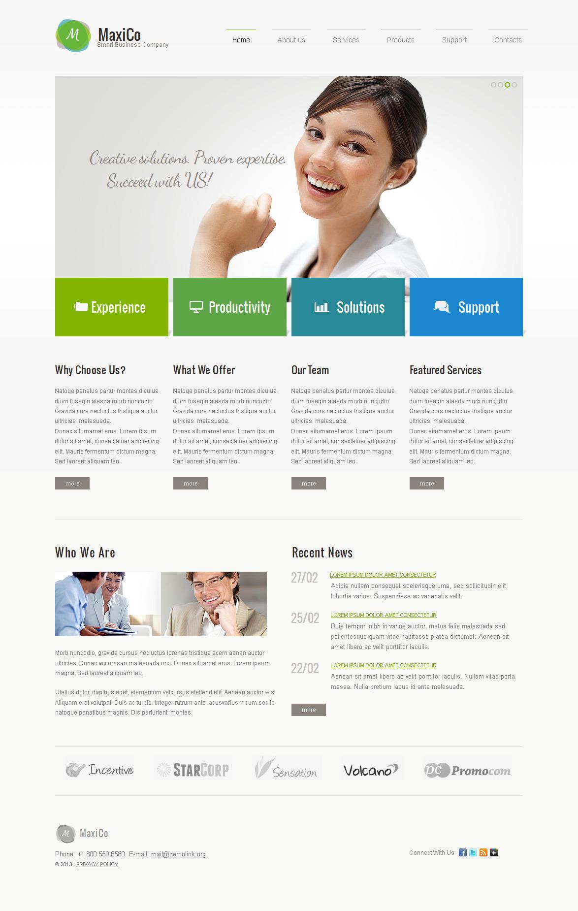 Modèle Moto CMS HTML Premium pour sites de consultation #42726