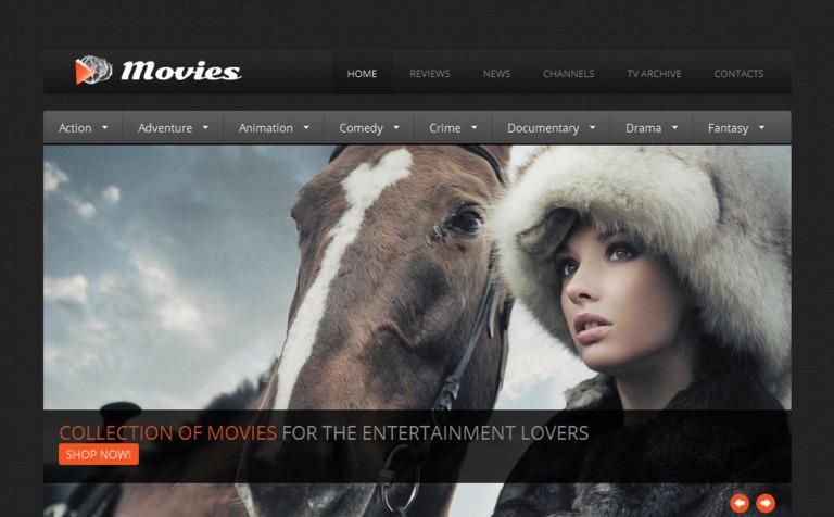 Movie Moto Cms Html Template 42707