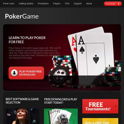 Poker Game - Facebook HTML CMS Template