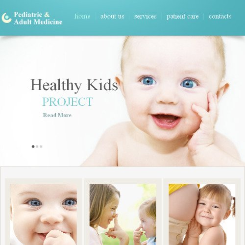 Pediatric & Adult Medicine - Facebook HTML CMS Template