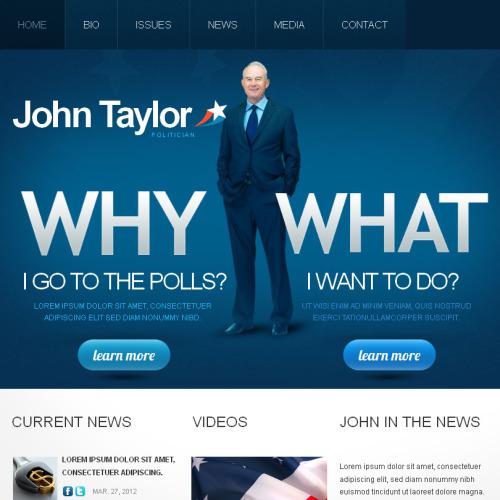 John Taylor - Facebook HTML CMS Template