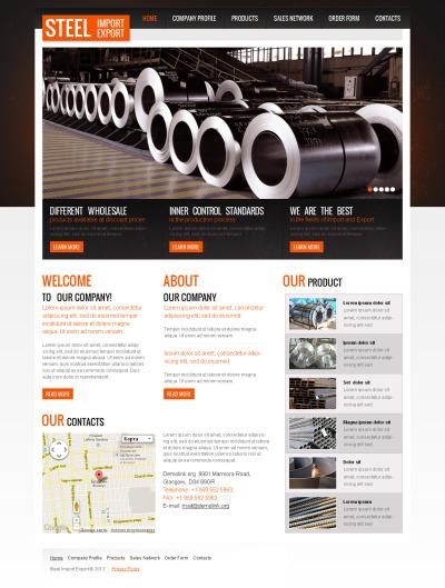 Premium Çelik Fabrikası  Moto Cms Html Şablon #42721