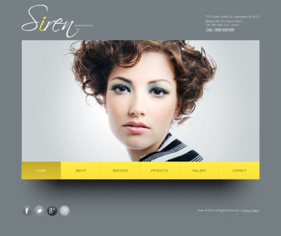 Hair Salon Moto CMS HTML Şablon