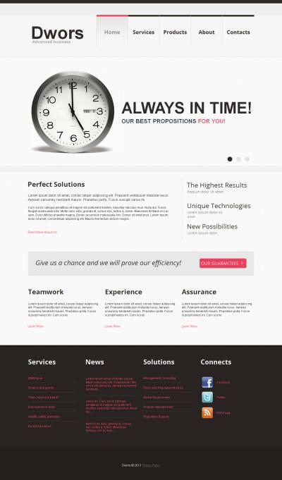 Marketing Agency Responsive Moto CMS HTML Sablon