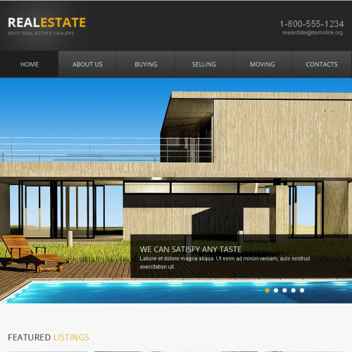 Real Estate  - Facebook HTML CMS Template