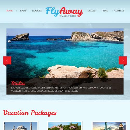 Fly Away - Facebook HTML CMS Template