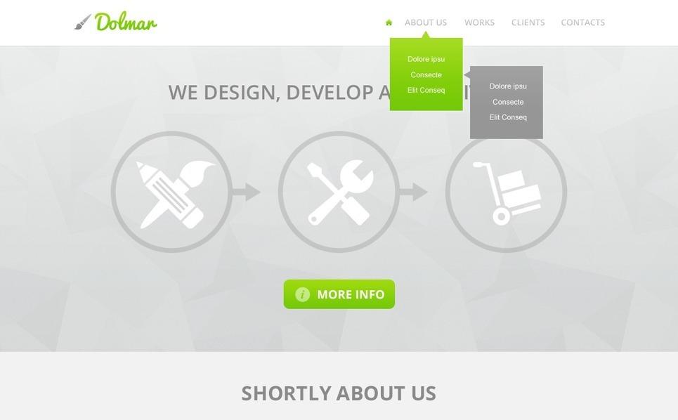 Template Web para Sites de Estúdio de Design №42808 New Screenshots BIG