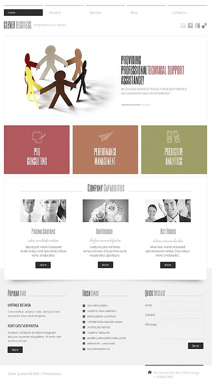 Joomla Theme/Template 42823 Main Page Screenshot