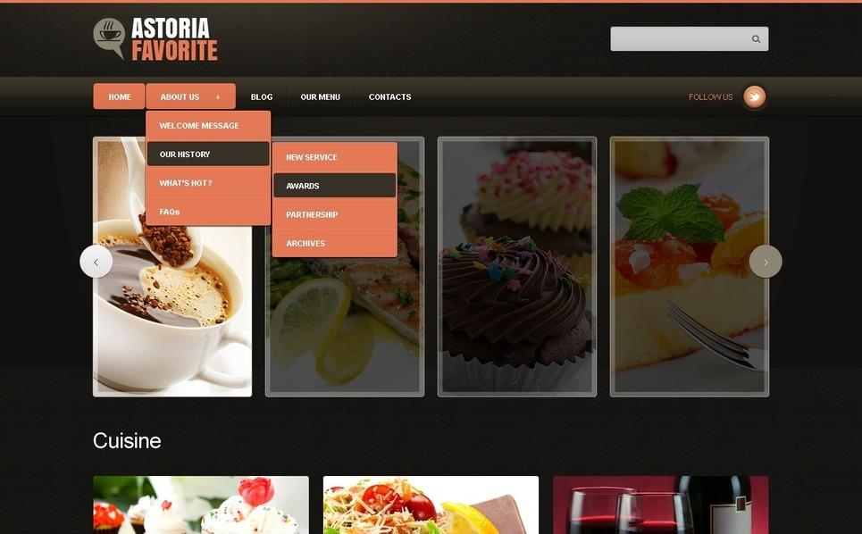 Joomla šablona Kavárny a Restaurace New Screenshots BIG
