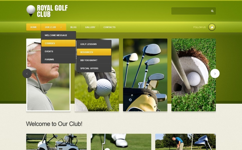 Modello Joomla  #42830 per Un Sito di Golf New Screenshots BIG
