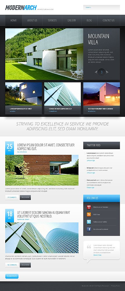 Black And White Construction Drupal Template Website Templates