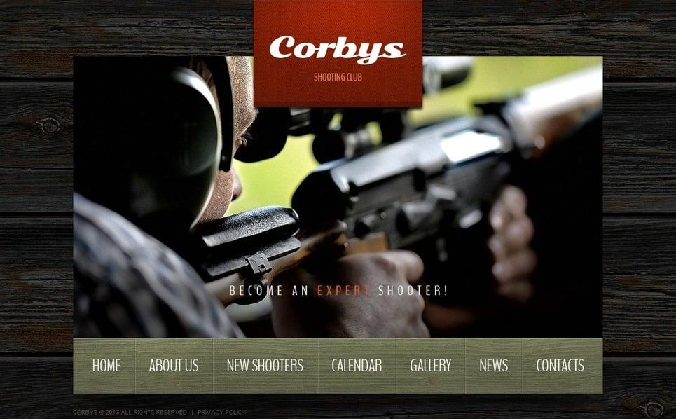 Website template over Schieten  New Screenshots BIG