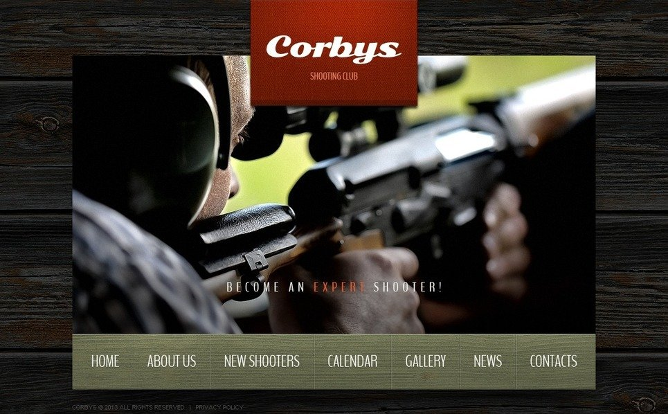 Plantilla Web #42838 para Sitio de Tiro New Screenshots BIG
