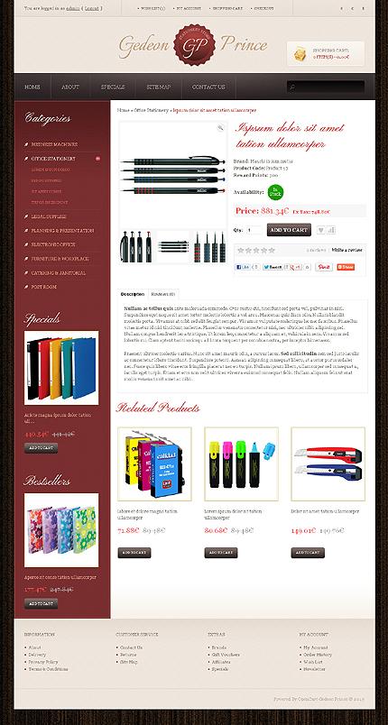 ADOBE Photoshop Template 42863 Home Page Screenshot