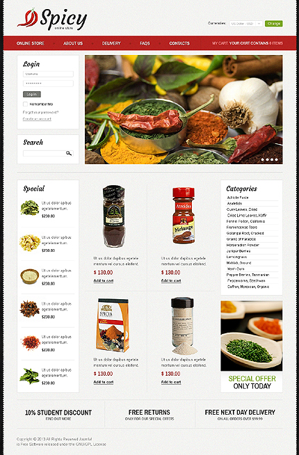 ADOBE Photoshop Template 42864 Home Page Screenshot