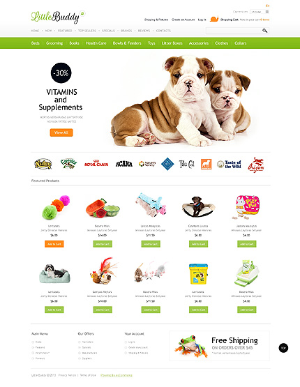 osCommerce Template 42867 Main Page Screenshot