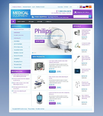 osCommerce Template 42870 Main Page Screenshot