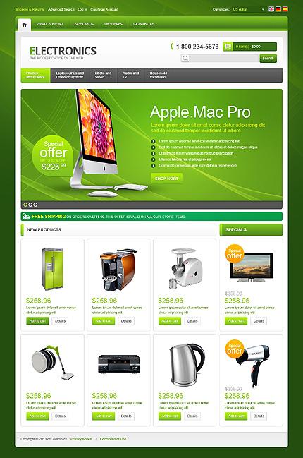 osCommerce Template 42871 Main Page Screenshot